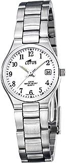 Lotus 15193-2 - Reloj de Pulsera de Mujer, Correa de Acero Inoxidable, Color Plata