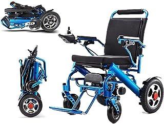 KuiGu Silla de Ruedas eléctrica Plegable Anciano Asistencia para discapacitados Coche Anciano Compacto Inteligente Portátil Ligero