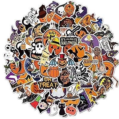 100Pcs Halloween Stickers, Pumpkin Skull Sticke...