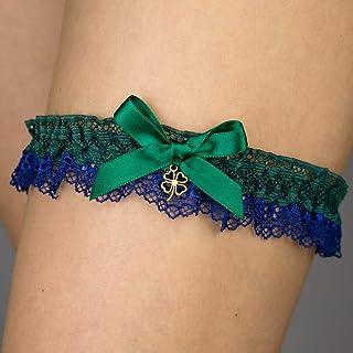 Giarrettiera di pizzo matrimonio sposa biancheria intima regali de nozze addio al nubilato verde stella marina
