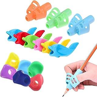 鉛筆もちかた 矯正 左右手兼用 鉛筆キャップ 鉛筆持ち方 くもん えんぴつ OKSANOペングリップ 15個 子供 柔らかい 筆圧 疲労を軽減 鉛筆グリップ 鉛筆セット 面白い勉強セット 握り方矯正 正しい持ち方