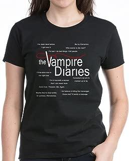 Vampire Diaries Quotes Women's Dark Cotton T-Shirt