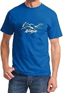 Wimoon Kawasaki Ninja Classic Motorcycle Outline Design Tshirt
