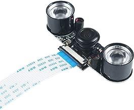 MakerFocus Raspberry Pi Camera Night Vision Camera Adjustable-Focus Module 5MP HD Webcam Video Wide Angle Fisheye Lens OV5647 Video 1080p for Raspberry Pi 3B/3B+ and Pi 2B B+