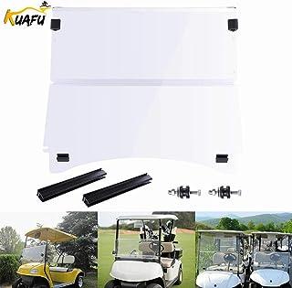 CC Precedent Clear Windshield Fold Down Impact Resistant Fits Club Car Precedent Golf Cart