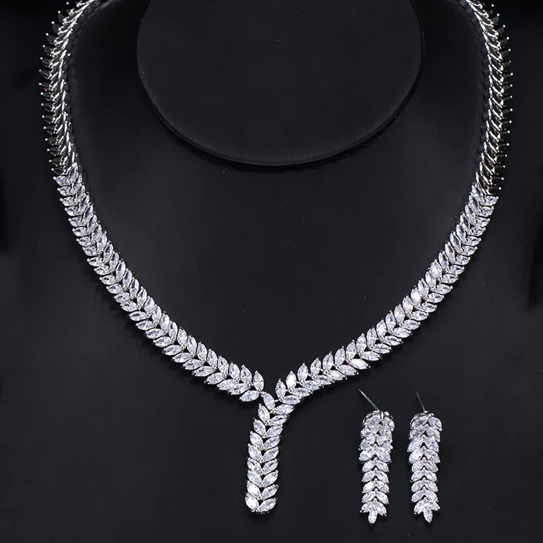 SYXMSM Jewellery Set Latest item Cubic Zirconia Jewelry 2 Piece Las Vegas Mall Wedding