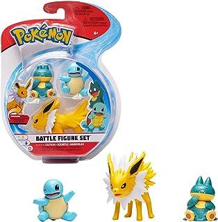 Pokémon Battle Figure Jolteon, Squirtle, Munchlax, Multi Color, PKW0047
