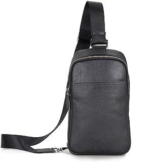 LIMING Men's Chest Bag Men Women Leather Chest Bag Crossbody Shoulder Sling Bags Messenger Backpack Daypack Suitable for O...