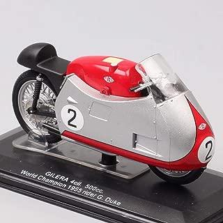QLRL 1/22 Escala Miniatura I Retro Clásico Gilera 4Cil 500Cc GP 1955 Cavalier No. 2 Motocicleta Fundición a presión y Bicicleta