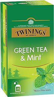 Twinings Green Tea & Mint, 25 Teabags, Green Tea, Cool & Refreshing Mint Flavour