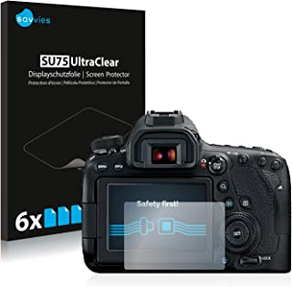 savvies Protector Pantalla Compatible con Canon EOS 6D Mark II (6 Unidades) Pelicula Ultra Transparente