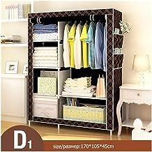 Wardrobe Storage Cabinet Bedroom Multipurpose Non-Woven Cloth Wardrobe Folding Portable Clothing Storage Cabinet Dustproof...