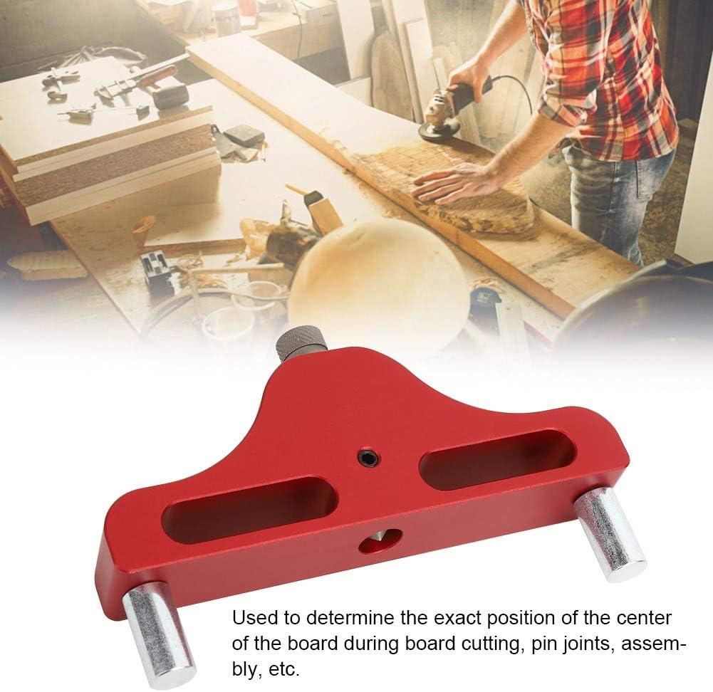 Center Scriber Professional f/ür Holzbearbeitungsger/äte Holzbearbeitungsger/äte red Holzschreiber-Messger/ät Markierungscenter-Tool Breites Application Center Finder-Tool