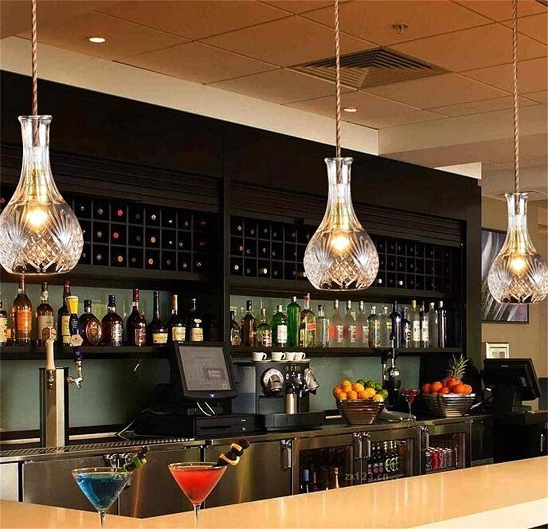 Oudan Retro Moderne Lampe Minimalistischen, Kreative Persnlichkeit Cafe Restaurant Bar Bar Glasflasche Künstlerische Kronleuchter Kronleuchter (Stil  C) (Farbe   D)