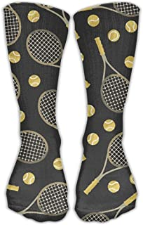 Raquetas de tenis y pelotas de tenis. Novedad cómoda. Calcetines largos.