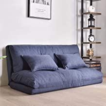 60-120cm Single Double Folding Lazy Sofa Tatami Mattress, Bed Cotton Detached Washable Queen King Bed Bean Bag Couch Tatam...