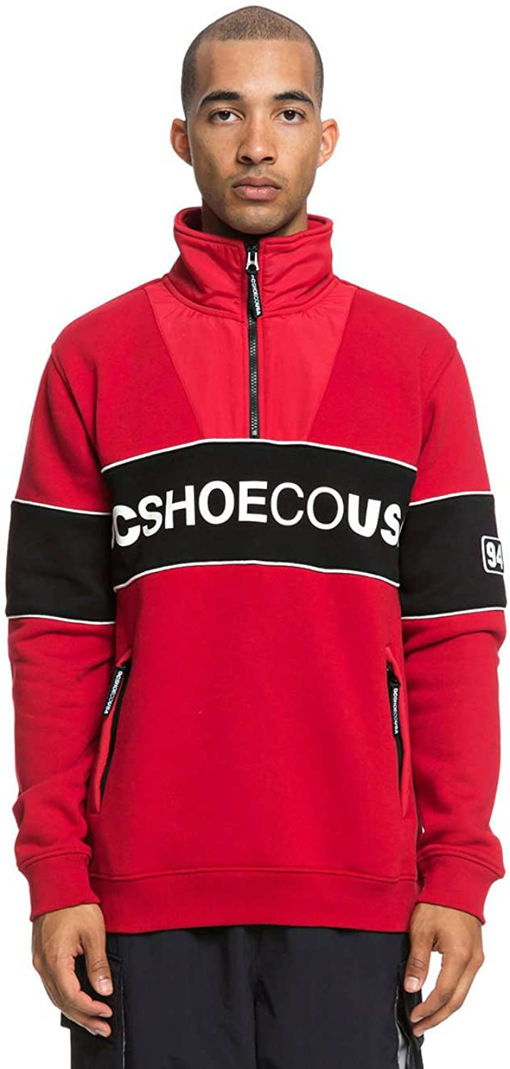 DC Tango Red Clewiston Mock Zip Sweater (XL, Red)