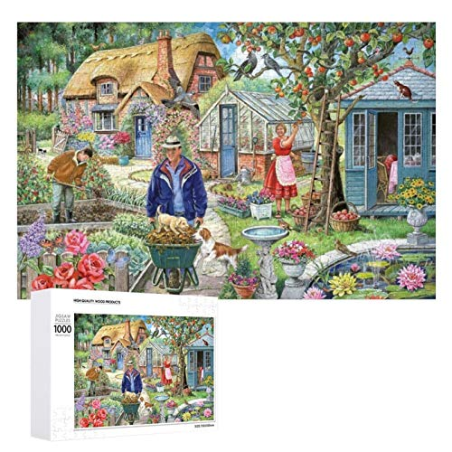 Jigsaw Puzzle 1000 Piece- Busy in The Garden,Wall Art Hanging Decor Puzzles-Fun Indoor Activity