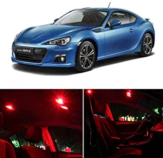 SCITOO 11 Pcs Red Interior LED Light Package Kit Replacement Bulbs Fits for Subaru BRZ 2013-2017