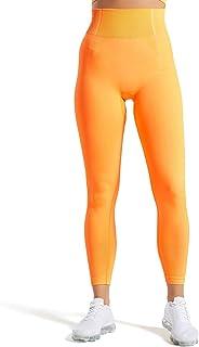 Aoxjox Women's High Waist Workout Sport Gym Ultra Seamless Leggings Yoga Leggings
