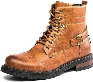 3726b4102e07 Amazon.com: men's brown leather boots