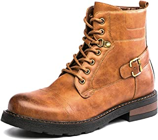 GOLAIMAN Men's Casual Combat Boots Military Motorcycle Dress Boots