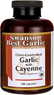Swanson Garlic with Cayenne 200 Capsules