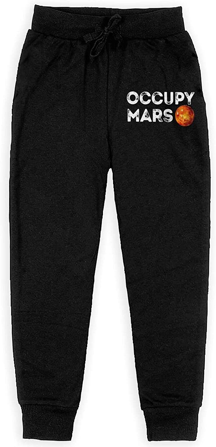Occupy Mars Sweatpants Kids Sport Trousers Athletic Cool Pants for Boy Girls