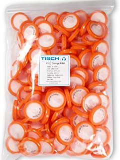 Tisch Brand SF16000 Polytetrafluoroethylene PTFE Syringe Filter, 0.45um, 30mm, 1/pk/100 per Pack | Wettability: Hydrophobic | Maximum Operating Temperature: 130 Degrees C | Burst Pressure (psi): 87 |