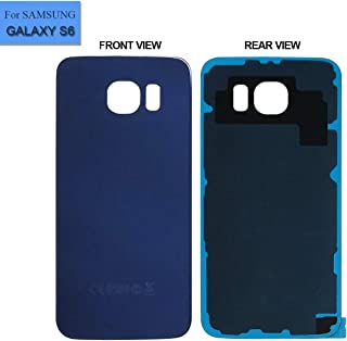 Replacement Back Glass Cover Back Battery Door Compatible with Samsung Galaxy S6 G920A G920T G920P G920R G920V with Tool Blue