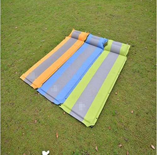 ZHANGHAOBO Outdoor Camping Automatique Gonflable Pad Widening Coutures Single Double Moisture Pad Outdoor Air Bed,Orange