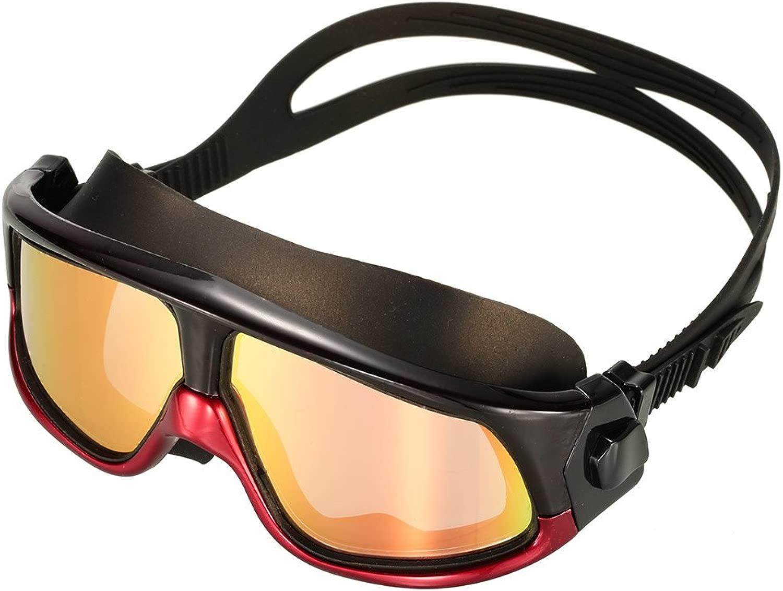 Yuiop Swim Goggles、HD曇り止めオーバーサイズフレーム防水偏光水泳メガネ大人用メンズレディースby