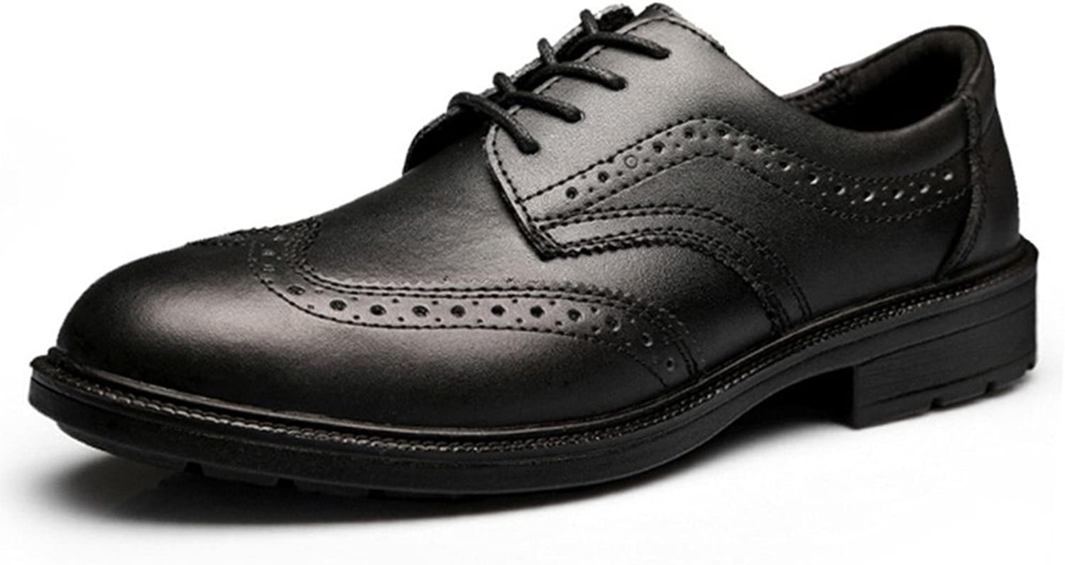 JACKBAGGIO Men's Leather Brogue Oxford Dress shoes Lace Up 8801