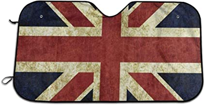 Ernest Congreve Vintage Union Jack Windshield Sunshade for Car Foldable UV Ray Reflector Auto Front Window Sun Shade Visor Shield Cover, Keeps Vehicle Cool Minivans(51