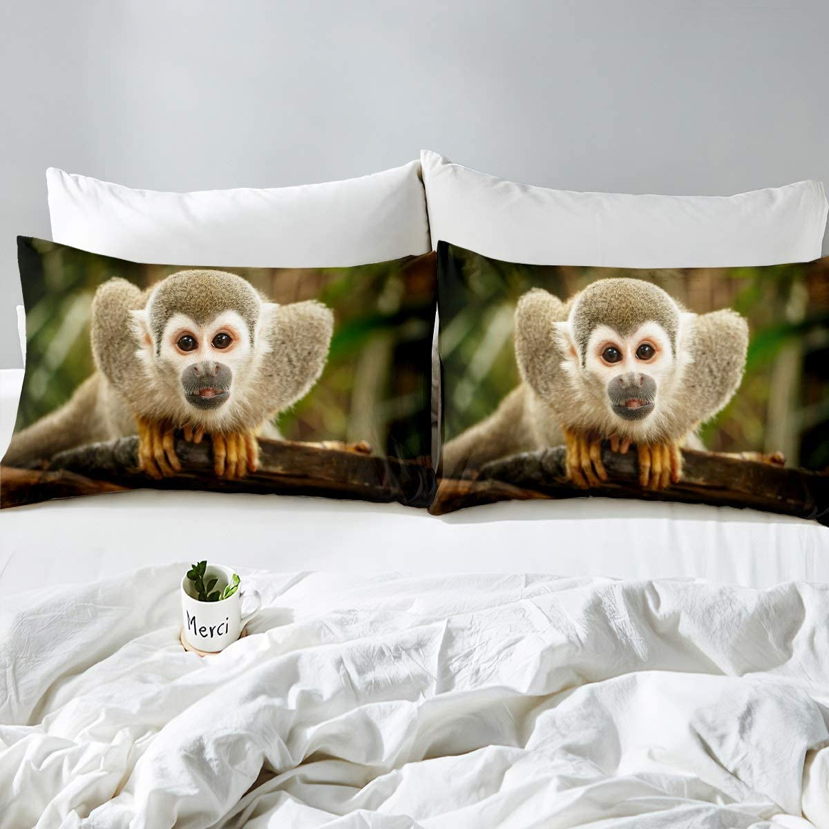 Feelyou Llama Alpaca Fitted Sheet Cute Llama Bedding Set Cartoon Llama Alpaca Design Bed Sheet Set for Boys Girls Children Teens Animal Theme Bed Cover Bedroom Decor Twin Size with 1 Pillow Case