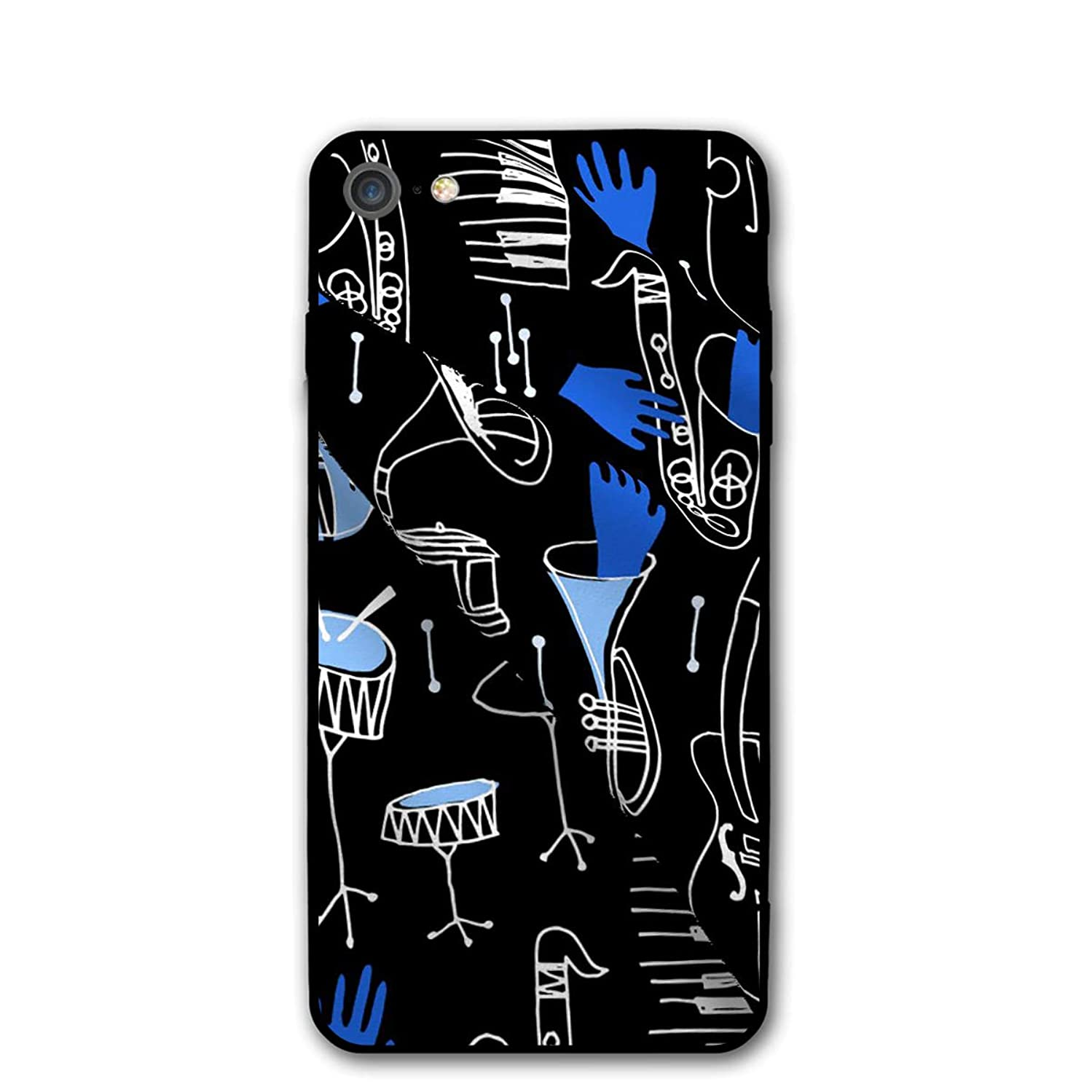 4.7 Inch iPhone 8 Case Musical Print Anti-Scratch Shock Proof Hard PC Protective Case Cover
