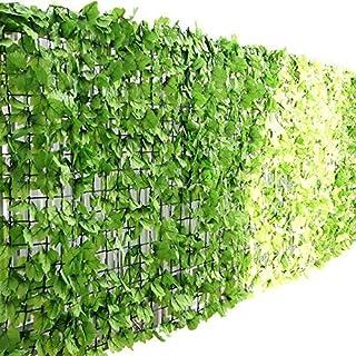 ottostyle.jp グリーンフェンス 緑のカーテン 約3m×1m 【ライトグリーン】 ソフトネットタイプ 目隠し リーフフェンス フェイクグリーン 日よけ サンシェード...