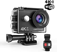 DBPOWER D2 4K Action Camera 12MP Ultra HD Waterproof Sports Cam with Built-in WiFi 170..