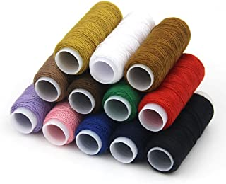Urchart@ 12PCS Assorted Colors 350M/Unit Professional Jeans Sewing Thread