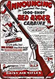 Isaric Tin Sign 1940 Daisy Red Ryder BB Gun Vintage Look Reproduction 8 x 12 Metal Sign