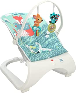 Mee Mee Vibrating & Soothing Baby Bouncer (Deluxe, Blue)