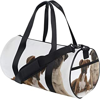 Duffel Bags Pug Puppy Sitting Womens Gym Yoga Bag Small Fun Sports Bag for Men