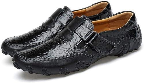 ZIXUAP La Mode des Hommes Chaussures Oxfords Loisirs Lacets Uniques en Cuir Faits à la Main Chaussures légères Confortables Chaussures Formelles