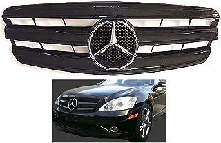 Mercedes benz W221 S-Class 2007 2008 2009 All Black grille Chrome Star Emblem S550 S63 S350 Front Bumper Hood #342