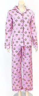 Paul Frank Collared Buttondown Shirt Pajama Set Pink