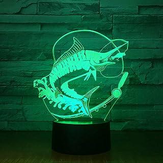 Nuevas Luces de Pesca luz Nocturna estéreo Cebo para Peces iluminación Ambiental Cambio de Color ilusión Regalo de cumpleaños Juguetes para niños
