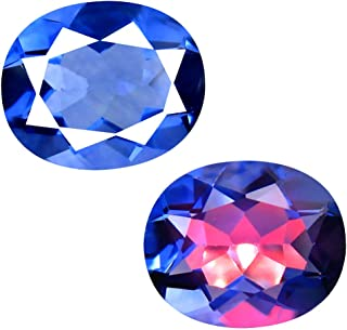 Deluxe Gems 5.90 ct Oval (12 x 10 mm) Brazil Color Change from Blue to Purplish Red Fluorite Natural Loose Gemstone
