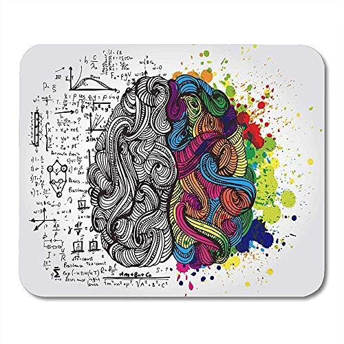 Alfombrillas De Ratón Derecha Creativo del Cerebro Humano Mente Izquierda Lluvia De Ideas Idea Alfombrilla De Ratón para Computadora Portátil, Computadoras Accesorios Alfombrillas De Ratón