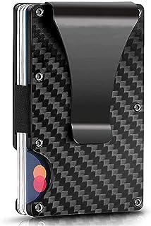 AsgenoX Carbon Fiber RFID Wallet,Minimalist Credit Card Holder for Men and Women