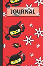 Journal: Emoji Ninja with Throwing Stars Notebook for Kids ...